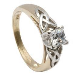 celtic engagement rings princess cut celtic engagement ring with inset knots made by shanore