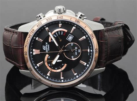 Casio Edifce Efr 539 Brown Leather1 casio efr 510l 5av brown leather