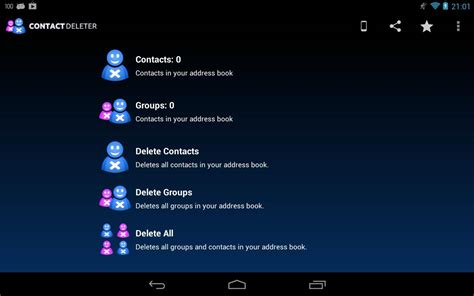 delete contacts android delete contacts aplicatii android