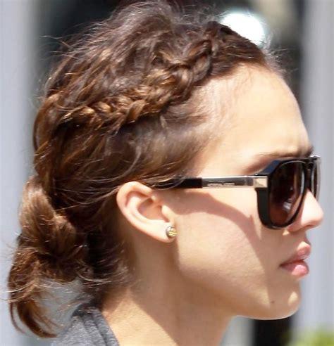 braided hairstyles jessica alba jessica alba cute braided bun hairstyle hairstyles weekly