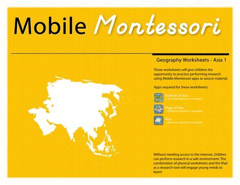 Montessori Worksheets by Worksheets Mobile Montessori