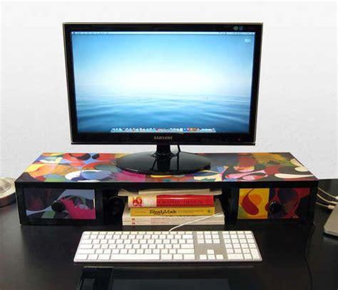 Computer Monitor Shelf For Desk Desk Shelf For Monitor Getting Crafty