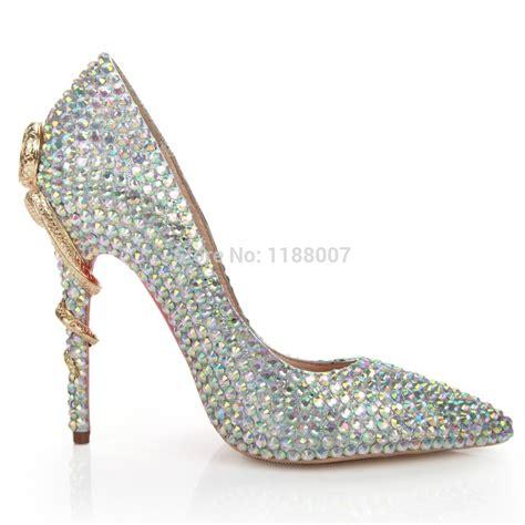 high heels with bling bling bling amazing fashion design snake metal back heel