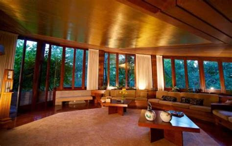 Falling Water Interior usonian home by frank lloyd wright on market for 4 9