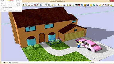 imagenes sketch up curso sketchup herramientas volumenes ejemplo casa