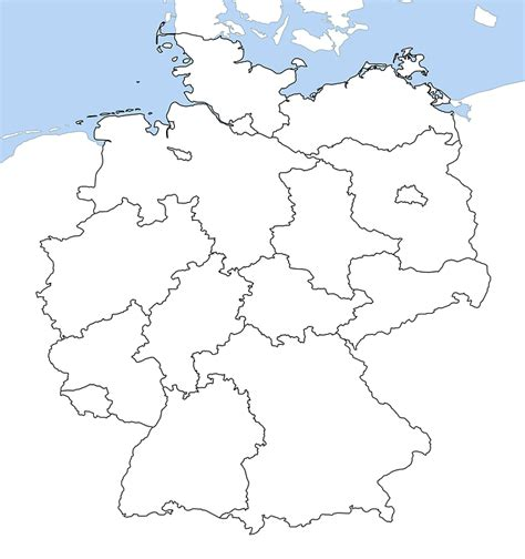 map of german provinces free illustration germany map all provinces free image