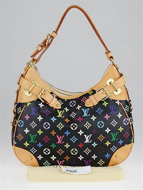 louis vuitton black monogram multicolore greta bag yoogi