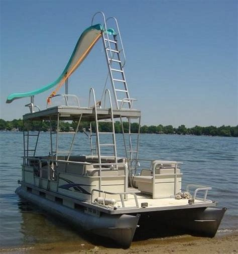 pontoon party boat with slide 26 best images about pontoon aka party barge on