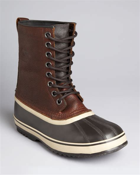 sorel 1964 premium leather boots in brown tobacco lyst