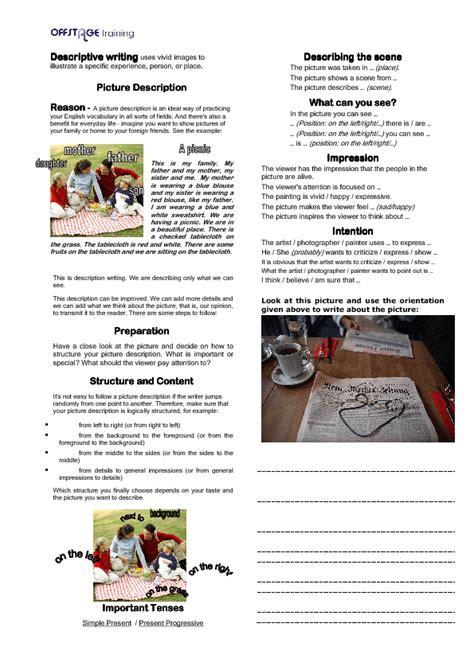 Classroom Descriptive Essay by 429 Free Esl Creative Writing Prompts