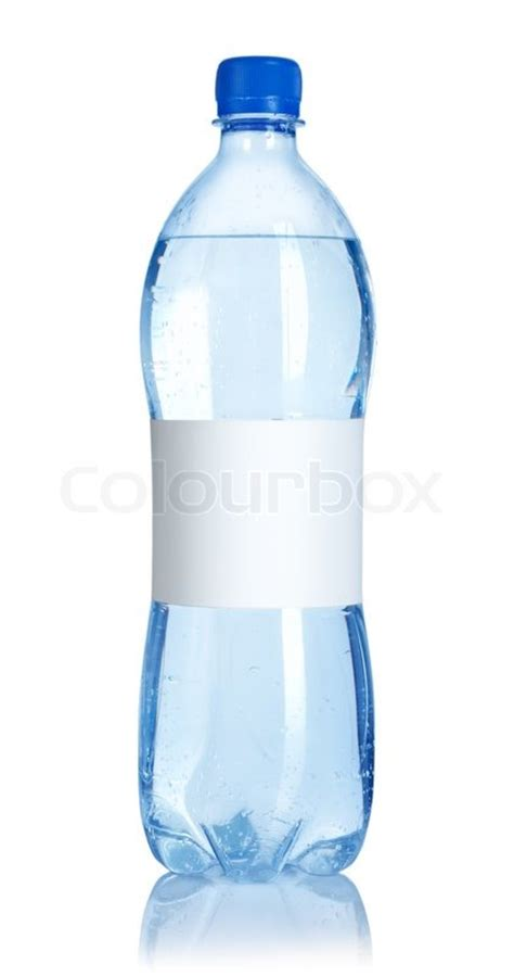 Soda Colour Bottle My Bottle soda water bottle with blank label isolated on white