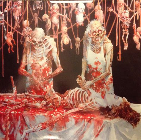 best of cannibal corpse quot cannibal corpse butchered at birth quot inner sleeve creepy