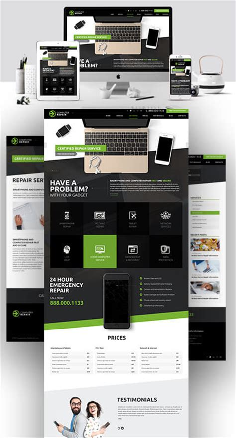 Computer Repair Website Template by Computer Repair Html Website Template Best Website Templates