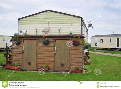 Caravan Shed by Decorated Shed In Caravan C Or Trailer Park Royalty