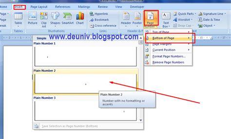 cara membuat halaman footer pada word membuat format halaman berbeda pada satu file word deuniv