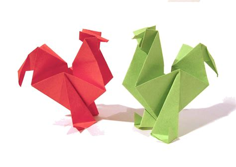 Origami Rooster Tutorial | easter origami rooster hen tutorial how to make an