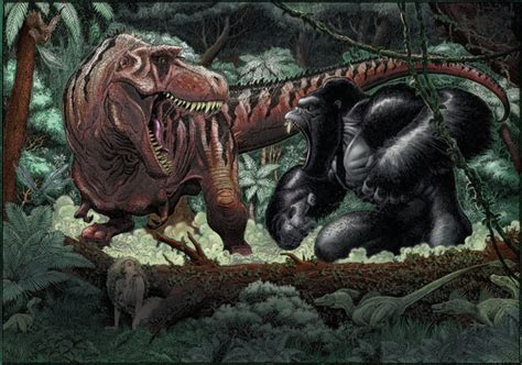 film king kong vs dinosaurus trex vs king kong by wohoo19m on deviantart