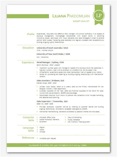 Modern Resume Sle Free Modern Microsoft Word Resume Template Liliana By Inkpower 12 00 Just
