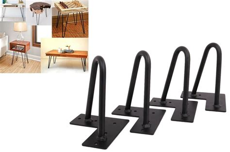 6 set of 4 hairpin coffee table legs 1 2 quot solid steel