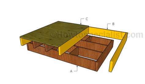 floating bed frame plans full size floating bed plans howtospecialist how to