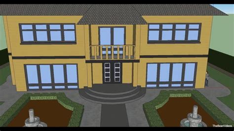make a home make a house with google sketchup 8 youtube