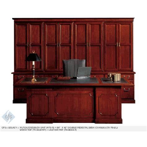 ofs legacy traditional executive desk workstation with