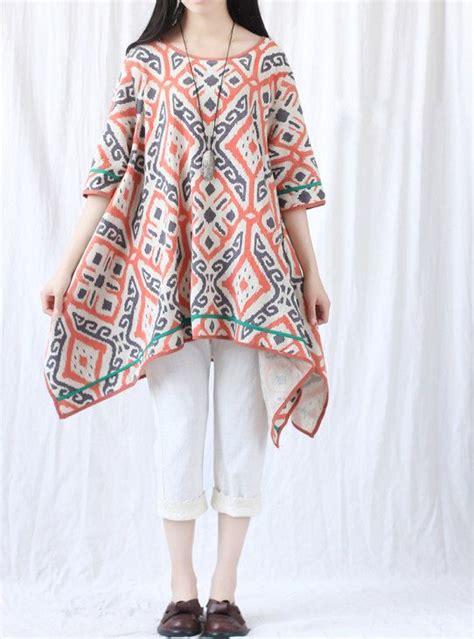 Blus Tunik Etnik Ri 01 rekomendasi gaya baju batik wanita untuk ke kantor