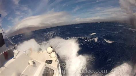 sport fishing boat in rough seas boat in rough seas and gale force winds youtube