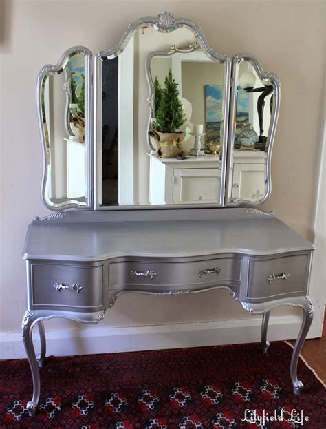 dresser vanity bedroom lilyfield life tips on using metallic paint and a silver