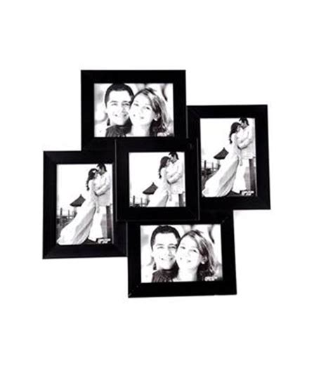 college photo frame black collage photo frame for 5 pictures rs 399