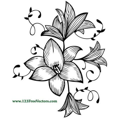 imagenes de flores dibujadas hand drawn flower plant download at vectorportal