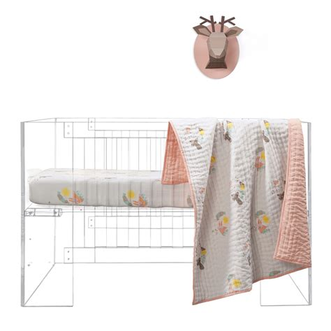 Forest Animals Menagerie Organic Cotton Percale Crib Sheet Organic Baby Crib Sheets