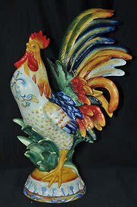 fitz floyd ricamo large rooster figurine nib