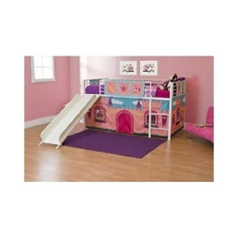 Bunk Bed Canopy Buy Powell 374 069 Princess Castle Size Tent Bunk Bed With Slide White Powder Coat With