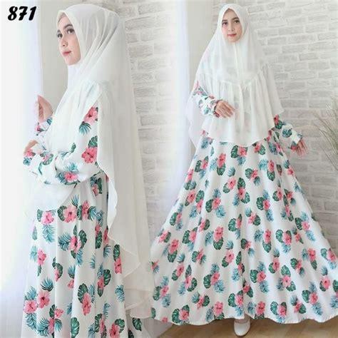 Dres Gamis Maxy Maxmara Busui Umbrella syari maxmara motif bunga c871 baju muslim cantik
