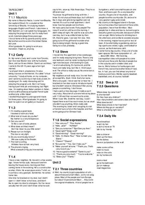 American headway 2 studentbook respuestas en ingles