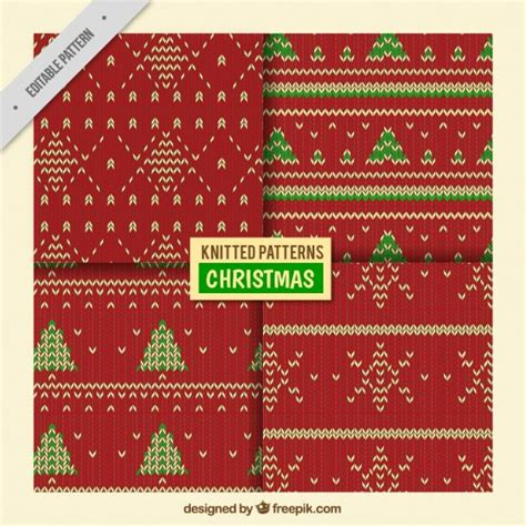 christmas pattern ai decorative knitted christmas patterns vector free download