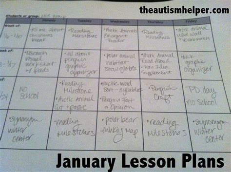 autism lesson plan template january lesson plans autism helper the o jays and