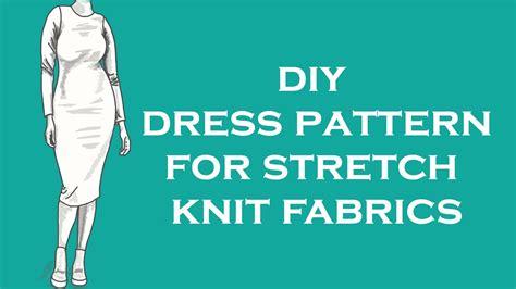 pattern making with stretch knit fabrics making a block pattern for stretch knit fabrics youtube