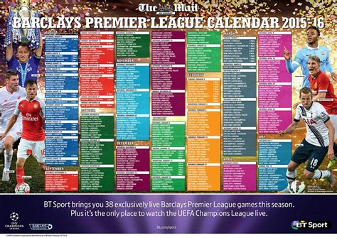 epl daily mail premier league fixtures 2015 16 here s your ultimate
