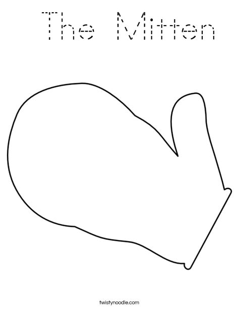 Mitten Coloring New Calendar Template Site The Mitten Coloring Page