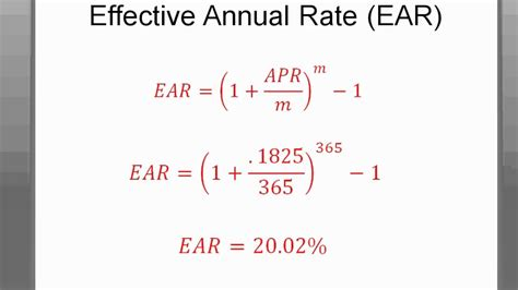 what is apr and how time value of money apr vs ear
