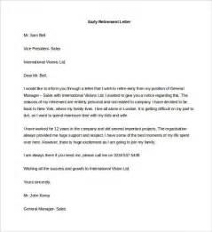 Resignation Letter Retiring Retirement Resignation Letters Resignation Mail To Colleagues 7 Resignation Mail To Colleagues
