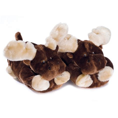 slippers for adults moose plush slippers for adults and children buy