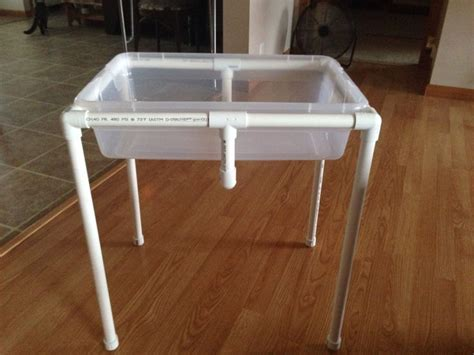 table pvc adapted sand water or sensory table from pvc pipe less than 20 and less than 30 min start to