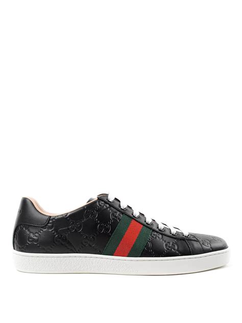 leather sneakers gg leather sneakers by gucci trainers ikrix