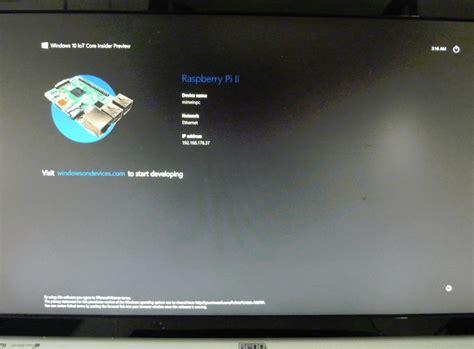 tutorial windows 10 iot windows 10 iot vorabversion auf dem raspberry pi 2