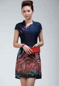 Baju Terusan Fashion Wanita Cheongsam Imlek Shanghai Qipao Gbr Bunga desain baju batik untuk remaja dengan konsep kasual