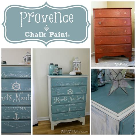 Annie Sloan Chalk Painted Kitchen Cabinets Coastal Themed Chest W Custom Graphics Amp Annie Sloan Chalk
