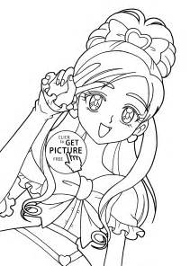 pretty cure characters anime coloring pages kids printable free coloing 4kids